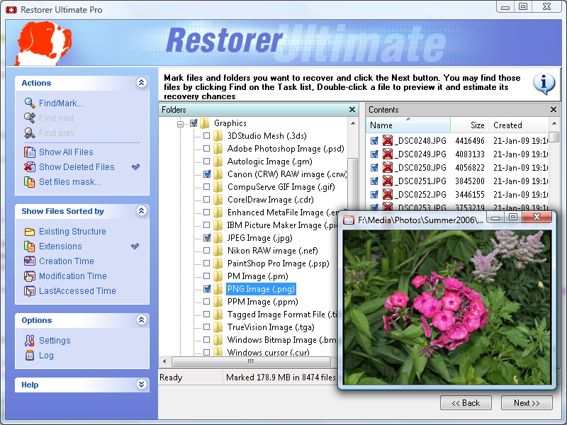 Click to view Restorer Ultimate 7.5 screenshot